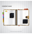 Website design template with organizer vector image