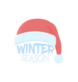 christmas speech bubble with santa claus hat vector image