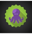 Summer Travel Sea Octopus Squid flat icon vector image
