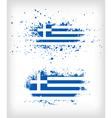 Grunge greek ink splattered flag vector image vector image