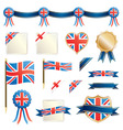 great britain ribbons and seals vector image