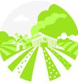 FarmSignGreen vector image
