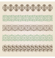 Decorative seamless borders set vector image