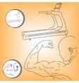 Logo athlete and treadmill vector image