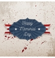 Happy Memorial Day greeting Label with Text vector image