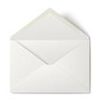 White opened envelope isolated on white background vector image