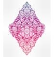 Beautiful bohemian floral paisley ornament vector image