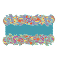 Floral ethnic frame hand-drawn vector image