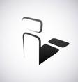 Logo for letter i vector image