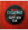 Merry Christmas On Red Texture vector image