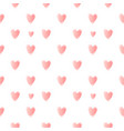 nice pattern with pink hearts vector image