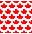 seamless wrapping paper - red maple leafs vector image