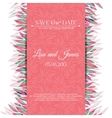 Wedding invitation template Save the date vector image