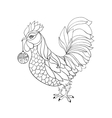 Rooster symbol for Chinese calendar Thin line vector image