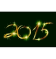 Christmas card with glow green 2015 vector image