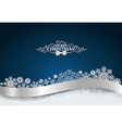 Christmas background with snowflake and shiny vector image