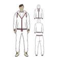 mans zip-through hoodie and sweetpants vector image