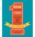 One year Birthday invitation vector image