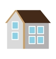 two floor colorful house graphic vector image