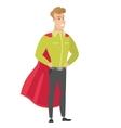 Businessman wearing a red superhero cloak vector image