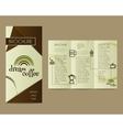Coffee Brochure Flyer design Layout template vector image