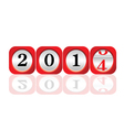 dial 2014 color art vector image