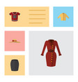 flat icon clothes set of clothes stylish apparel vector image