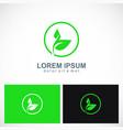 green leaf botany plant logo vector image
