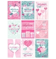 Happy Valentines Day Party Flyer Posters vector image