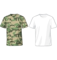 Mens White and Military Shirts template vector image