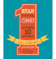 One year Birthday invitation vector image