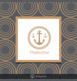three anchor emblem with circular rope in frame vector image