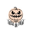 trick or treat sign vector image vector image