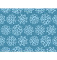 Geometry snowflake on winter gray sky background vector image vector image