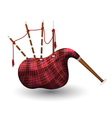 Scottish bagpipe vector image