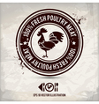 alternative poultry stamp vector image