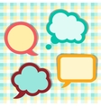 Set of sticker speech bubbles vector image