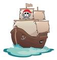 Corsair sailboat vector image vector image