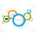 abstract grunge circles education background vector image vector image