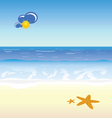 beach cartoon art vector image