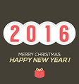 2016 Vintage New Year Card vector image