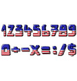 usa numbers vector image vector image