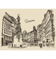 Streets in Vienna Austria hand drawn vector image