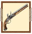 icon pirate pistol vector image vector image