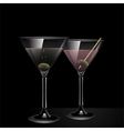 Martini Cocktail Background vector image vector image