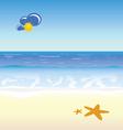 beach cartoon art vector image