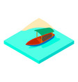 boat on water icon isometric style vector image