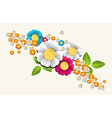 Colorful splash flower background vector image
