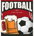 Football banner game vector image