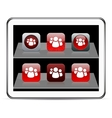 Forum red app icons vector image